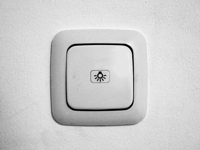znak na vypínači
