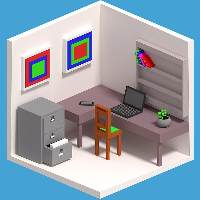 útulná kancelář