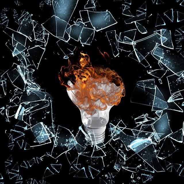 vyhořelá žárovka
