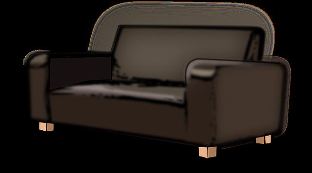 gauč na nohách