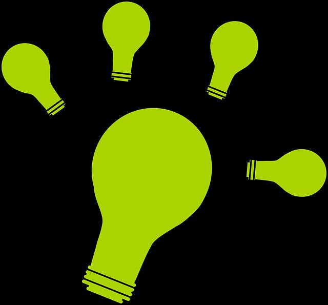 zelené žárovky