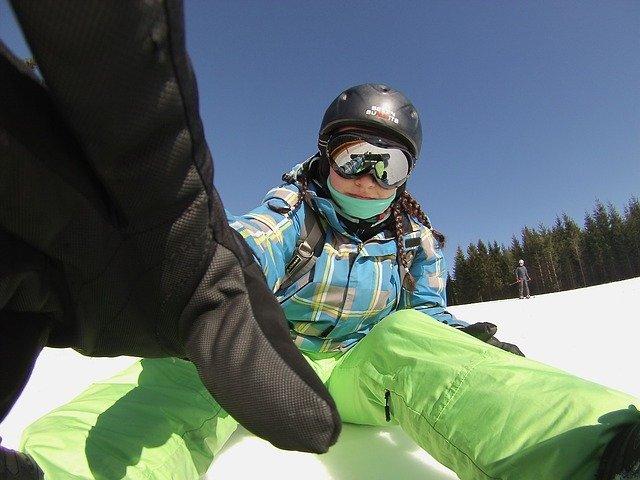 selfie snowboardisty